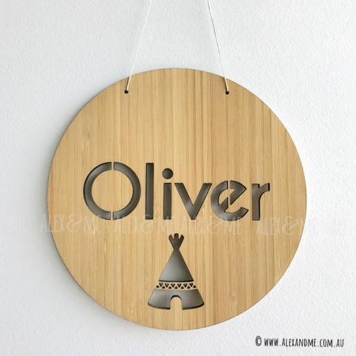 Bamboo Name Plaque