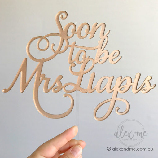 Rose gold cake toppers