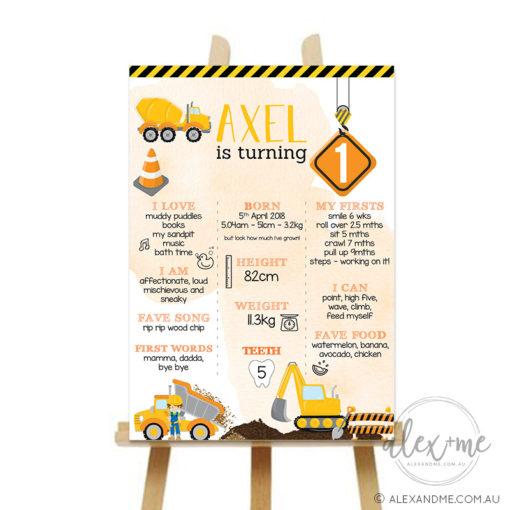 construction milestone board