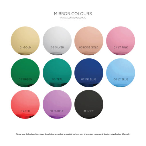 Acrylic Mirror Colours