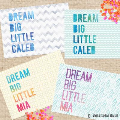 Dream-big-name-set