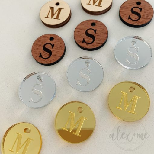 Monogram Favour tag