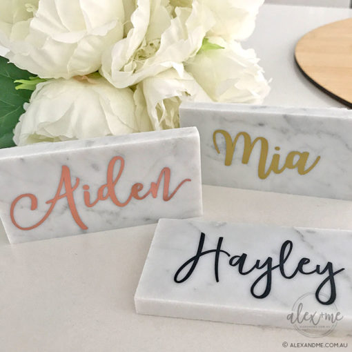 Marble placecard rectangle