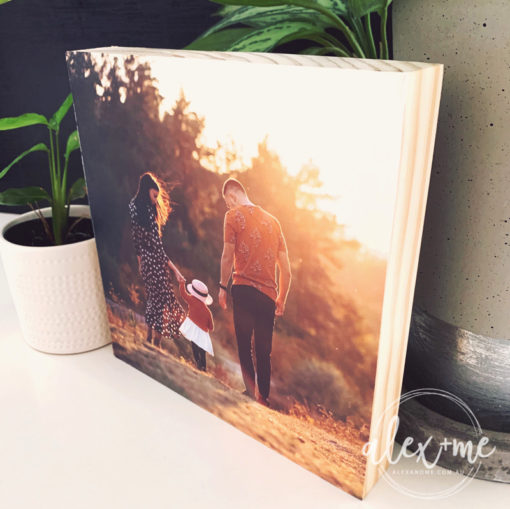 Wood photo block