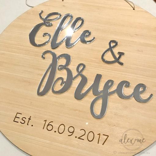 Round wedding plaque