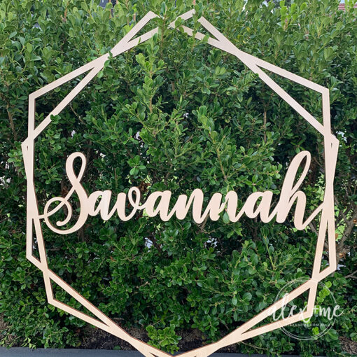 Geometric Hoop Sign