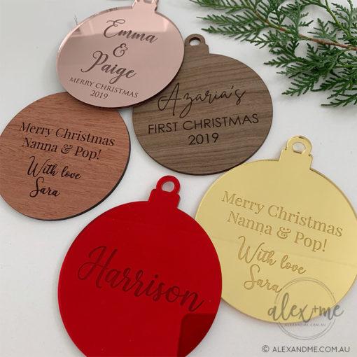 Custom Message ornament