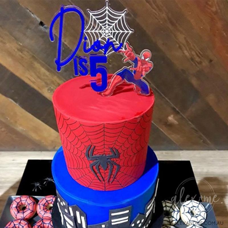 Enjoyable Spider Man Cake Topper Spiderman Cake Topper Alex Me Funny Birthday Cards Online Unhofree Goldxyz
