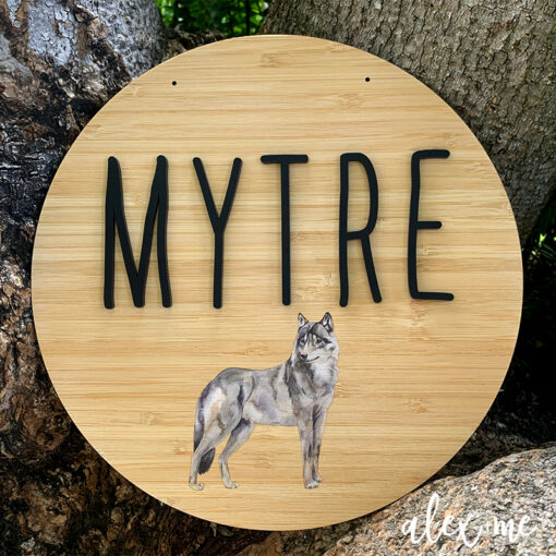 Wolf Plaque